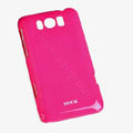 ROCK Colorful Glossy Cases Skin Covers for HTC X310e Titan - Red (High transparent screen protector)