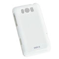 ROCK Colorful Glossy Cases Skin Covers for HTC X310e Titan - White (High transparent screen protector)