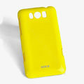 ROCK Colorful Glossy Cases Skin Covers for HTC X310e Titan - Yellow (High transparent screen protector)