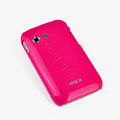 ROCK Colorful Glossy Cases Skin Covers for Samsung S5360 Galaxy Y I509 - Red (High transparent screen protector)