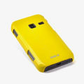 ROCK Colorful Glossy Cases Skin Covers for Samsung S5820 - Yellow (High transparent screen protector)