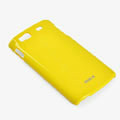 ROCK Colorful Glossy Cases Skin Covers for Samsung S8600 Wave 3 - Yellow (High transparent screen protector)