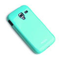 ROCK Colorful Glossy Cases Skin Covers for Samsung i8160 Galaxy Ace 2 - Blue (High transparent screen protector)