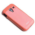 ROCK Colorful Glossy Cases Skin Covers for Samsung i8160 Galaxy Ace 2 - Red (High transparent screen protector)