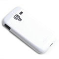 ROCK Colorful Glossy Cases Skin Covers for Samsung i8160 Galaxy Ace 2 - White (High transparent screen protector)
