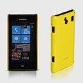 ROCK Colorful Glossy Cases Skin Covers for Samsung i8700 Omnia 7 - Yellow (High transparent screen protector)