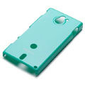 ROCK Colorful Glossy Cases Skin Covers for Sony Ericsson MT27i Xperia sola - Blue (High transparent screen protector)