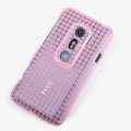 ROCK Magic cube TPU soft Cases Covers for HTC EVO 3D G17 X515M - Pink (High transparent screen protector)