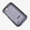 ROCK Magic cube TPU soft Cases Covers for HTC Vigor Rezound ADR6425 - Black (High transparent screen protector)