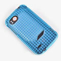 ROCK Magic cube TPU soft Cases Covers for HTC Vigor Rezound ADR6425 - Blue (High transparent screen protector)