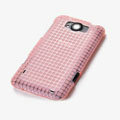 ROCK Magic cube TPU soft Cases Covers for HTC X310e Titan - Pink