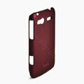ROCK Naked Shell Hard Cases Covers for HTC C110e Radar - Red (High transparent screen protector)