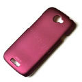 ROCK Naked Shell Hard Cases Covers for HTC ONE S Ville Z520E - Red (High transparent screen protector)