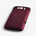 ROCK Naked Shell Hard Cases Covers for HTC Sensation XL Runnymede X315e G21 - Red (High transparent screen protector)