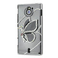 Bling Angel Crystals Hard Cases Covers for Sony Ericsson MT27i Xperia sola - Black