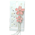 Bling Flower Crystals Hard Cases Covers for Sony Ericsson ST25i Xperia U - White