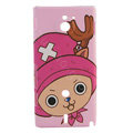 Cartoon Chopper Matte Hard Cases Covers for Sony Ericsson MT27i Xperia sola - Pink
