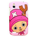 Cartoon Chopper Matte Hard Cases Skin Covers for HTC T328W Desire V - Pink