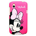 Cartoon Minnie Mouse Matte Hard Cases Skin Covers for HTC T328W Desire V - Rose