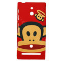 Cartoon Paul Frank Matte Hard Cases Covers for Sony Ericsson LT22i Xperia P - Red