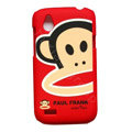 Cartoon Paul Frank Matte Hard Cases Skin Covers for HTC T328W Desire V - Red