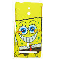 Cartoon SpongeBob Matte Hard Cases Covers for Sony Ericsson LT22i Xperia P - Yellow