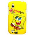 Cartoon SpongeBob Matte Hard Cases Skin Covers for HTC T328W Desire V - Yellow