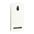 Crocodile pattern Leather Cases Holster Cover For Sony Ericsson LT22i Xperia P - White