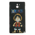 D. Luffy Matte Hard Cases Covers for Sony Ericsson MT27i Xperia sola - Black