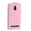 Leather Cases Support Holster Cover For Sony Ericsson LT22i Xperia P - Pink