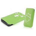Mofi Fresh Style leather Cases Holster Cover for HTC T328W Desire V - Green