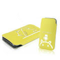 Mofi Fresh Style leather Cases Holster Cover for HTC T328W Desire V - Yellow