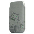 Mofi android army version leather Cases Holster Cover for HTC T328W Desire V - Gray