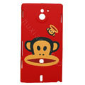 Paul Frank Matte Hard Cases Covers for Sony Ericsson MT27i Xperia sola - Red