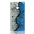 Raindrop Painting Hard Cases Covers for Sony Ericsson LT22i Xperia P - Blue