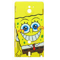 SpongeBob Matte Hard Cases Covers for Sony Ericsson MT27i Xperia sola - Yellow