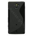TaiJi TPU Soft Cases Skin Covers for Sony Ericsson MT27i Xperia sola - Black
