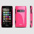 ROCK Colorful Glossy Cases Skin Covers for Nokia X7 X7-00 - Rose (High transparent screen protector)