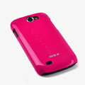 ROCK Colorful Glossy Cases Skin Covers for Samsung i8150 Galaxy W - Red (High transparent screen protector)