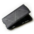 ROCK Flip leather Cases Holster Skin for Nokia Lumia 800 800c - Black