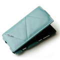 ROCK Flip leather Cases Holster Skin for Nokia Lumia 800 800c - Blue