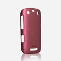 ROCK Naked Shell Hard Cases Covers for BlackBerry 9360 - Red (High transparent screen protector)
