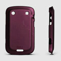 ROCK Naked Shell Hard Cases Covers for BlackBerry 9900 - Red (High transparent screen protector)