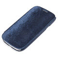 ROCK Side Flip leather Cases Holster Skin for Samsung Galaxy SIII S3 I9300 - Dark Blue