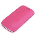 ROCK Side Flip leather Cases Holster Skin for Samsung Galaxy SIII S3 I9300 - Rose