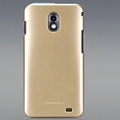 Nillkin Colorful Hard Cases Skin Covers for Samsung E120L GALAXY S2 SII HD LTE - Golden (High transparent screen protector)
