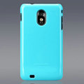 Nillkin Colorful Hard Cases Skin Covers for Samsung Epic 4G Touch D710 - Blue (High transparent screen protector)