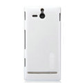 Nillkin Colorful Hard Cases Skin Covers for Sony Ericsson ST25i Xperia U - White (High transparent screen protector)