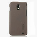 Nillkin Super Matte Hard Cases Skin Covers for Samsung E120L GALAXY S2 SII HD LTE - Brown (High transparent screen protector)