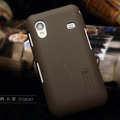 Nillkin Super Matte Hard Cases Skin Covers for Samsung Galaxy Ace S5830 i579 - Brown (High transparent screen protector)